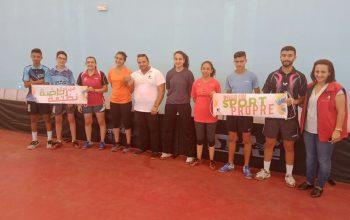 Sensibilisation contre le dopage au profit de l'E. N. de Tennis de Table