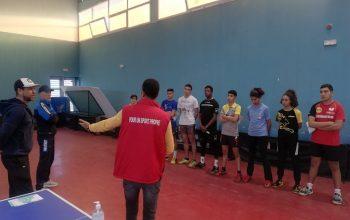 Séance de sensibilisation au profit de l'équipe nationale de Tennis de Table