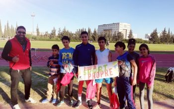 Sensibilisation contre le dopage des jeunes athlètes du lycée sportif Pierre de Coubertin et du club Zitouna sport